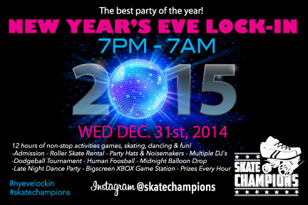New Year's Eve Lock-In Dec. 31st