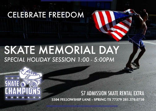 Open Memorial Day Holiday May 30th