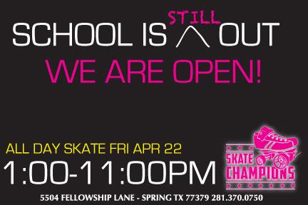 All Day Skate Fri Apr 22nd
