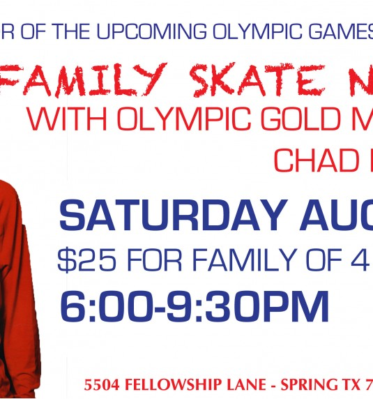 Skate with Olympian Chad Hedrick Aug. 13th